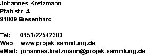 Adresse Johannes Kretzmann
